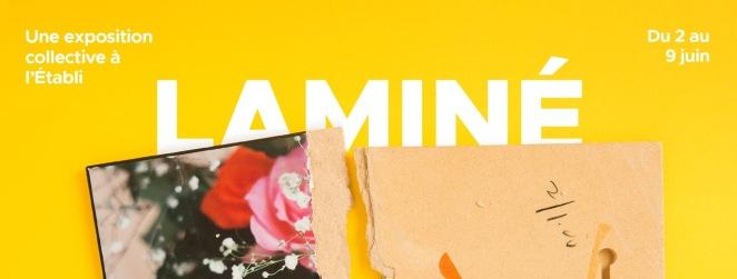 L'entête de l'affiche de l'exposition collective Laminé